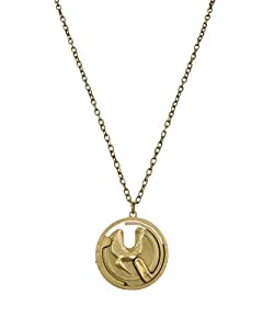 "The Hunger Games Movie Necklace Single Chain ""Mocking Jay Gyroscope"""