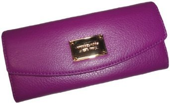 Michael Kors Items Slim Flap Leather Wallet Pomegranate