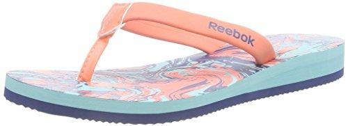 Reebok - Splashtopia, Infradito da donna, multicolore (coral/crystal blue/batik blue-bch), 35