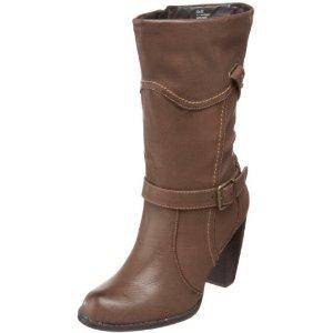 mudd ashlee womens dressy high heel boots brown 10 49 99