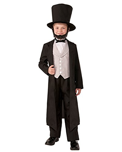 Kid Boys Civil War President Abraham Lincoln Classic Suit Costume