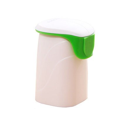 Green Cup toothpaste dispenser
