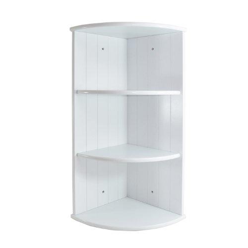 Blanc d'angle avec 3 étagères Fixation murale unité