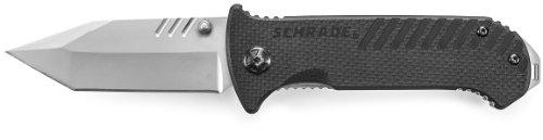Schrade SCH102 Honed Tanto Blade Liner-Lock Folding Knife     Schrade