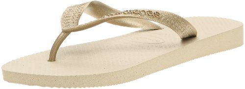 Havaianas Unisex Adult Hav Top Grey/Golden Sandal 4000733.2719.412 Size 8 UK