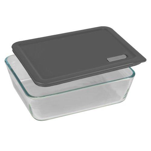 pyrex no leak lids 11 cup rectangle baking dish with plastic lid 071160058682. Black Bedroom Furniture Sets. Home Design Ideas