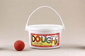 Dazzlin Dough Red 3 Lb Tub -- Case of 3