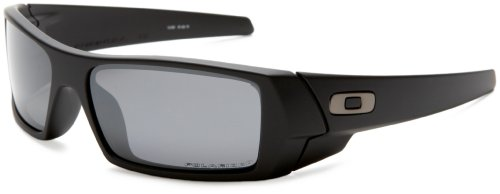 Oakley Men's GasCan Iridium Polarized Sunglasses,Matte Black Frame/Black Lens,one size