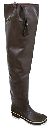 Calcutta men 39 s rubber hip felt boots brown for Fishing waders amazon