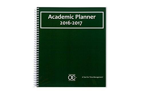 2016-2017 Academic Planner – A Tool For Time Management – Best Planner For Keeping Students On Track, On Task, On Time – Size 8.5 x 8.25 – GREEN – 2016 FAMILY CHOICE AWARD