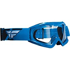 Fly Racing Focus Youth MotoX/Off-Road/Dirt Bike Motorcycle Goggles Eyewear - Blue/Clear / One Size
