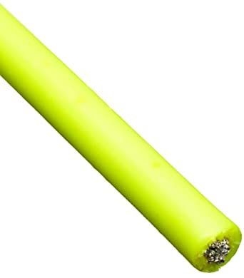 Loos Galvanized Steel Wire Rope, Vinyl Coated, 7x7 Strand Core, Fluorescent Yellow
