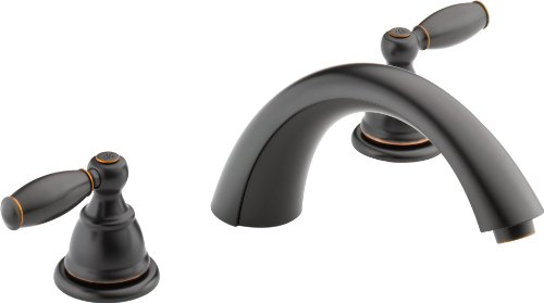 Peerless PTT298696-OB Apex Two Handle Roman Tub Trim, Oil Rubbed Bronze (R2700 Valve Not Included) (Delta Roman Tub Faucets compare prices)