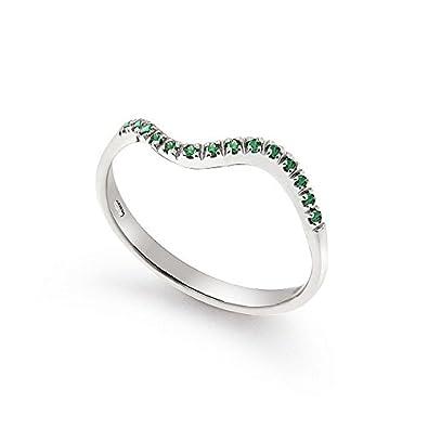corrispondenza di colore Nuova designer nuovo e usato Anello Orsini in oro bianco 18kt con smeraldi | Anelli di ...
