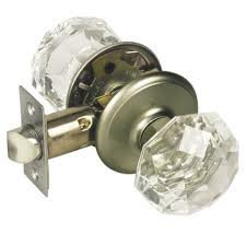 Gainsborough Sonata Crystal Door Knob Set Locking Bed