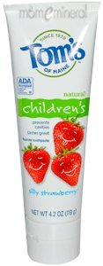 Natural Children's Fluoride Toothpaste, Silly Strawberry, 4.2 oz (119 g) by Tom's of Maine