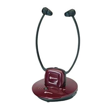 Amplicomms TV Écouter tv2500Casque radio sans fil avec amplificateur microphone intégré jusqu'à 120dB