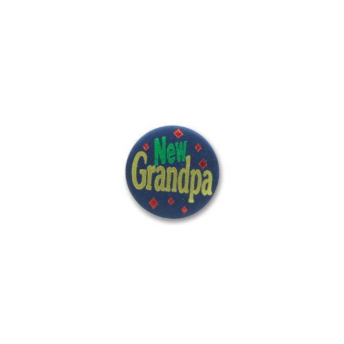 "New Grandpa Satin Button 2"" Party Accessory"