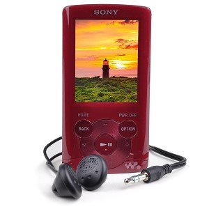 Sony Walkman E-Series NWZ-E364 8GB USB 2.0 MP3 Digital Music/Video FM Player w/2.0″ LCD (Red)