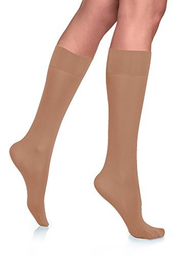 Lupo Womens Opaque Knee High Socks