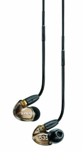 (Outlet Item)Shure Se535-V Bronze Triple High-Definition Microdriver Earphone With Detachable Cable Japan Import