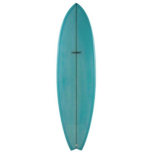 Modern Blackfish Electric Blue Tint Surfboard - 6Ft 4