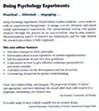Doing Psychology Experiments (0534338402) by David W. Martin