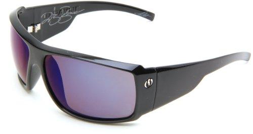 Electric Visual D. Payne Polarized Wrap Sunglasses,Gloss Black Frame/Ve Blue Polarized Lens,One Size