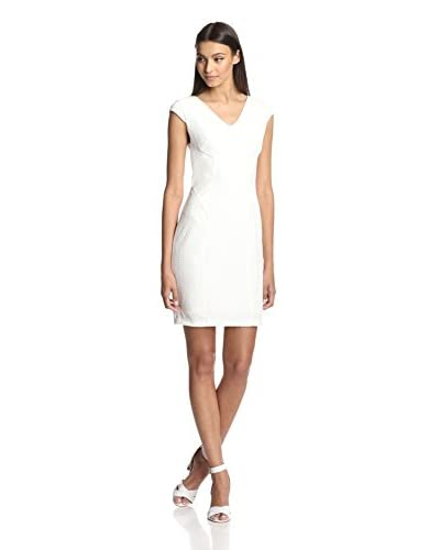 Julia Jordan Women's Cap Sleeve Faux Leather Panel Dress