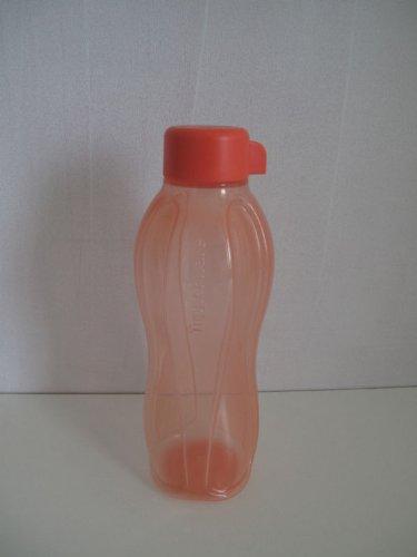 TUPPERWARE Öko-Wasser Saft Flasche Eco LACHS ROT 500 ml