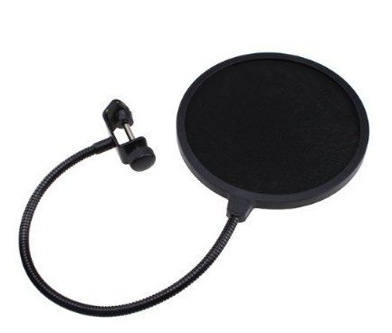 Mogoi(Tm) Studio Microphone Mic Wind Screen Pop Filter/ Swivel Mount / Mask Shied For Speaking Recording -Black With Mogoi Accessory Wire Winder