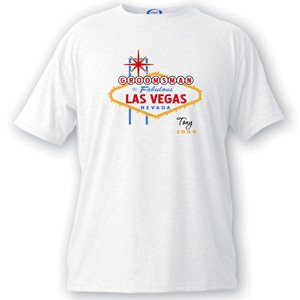 Wedding Favors Groomsman Vegas Bachelor Party Men`s T Shirt &#8211; XL