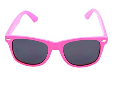 Vintage Wayfarer Style Sunglasses - Dark Lenses Pink Pastel