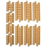 GeoTrax Rail &amp; Road System Tracks - Rail Straights Pack