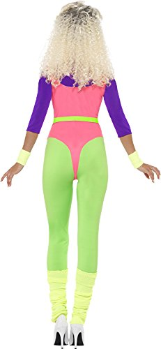 Smiffy's Adult 80s Fitness Jumpsuit Costume for Women