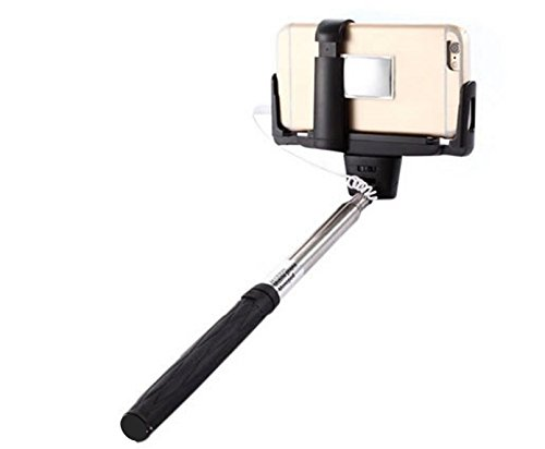 selfie stick by selfie sleuth p high definition mirrored selfie kit works seamlessly with wired. Black Bedroom Furniture Sets. Home Design Ideas