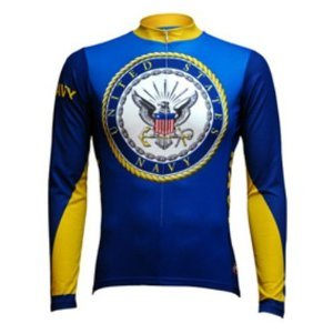 Buy Low Price Primal Wear Men's Long Sleeve US Navy Cycling Jersey (USN1J12M)