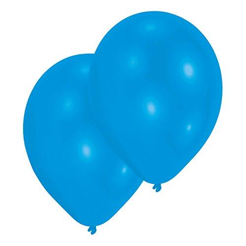 Amscan International Lot de 25 ballons en Latex 27,5 cm, métal Bleu