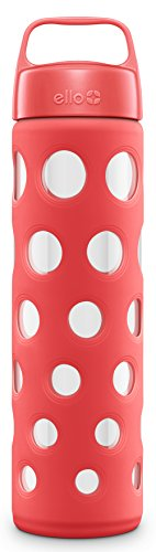ello-pure-20-ounce-bpa-free-glass-water-bottle-with-lid-coral-fizz