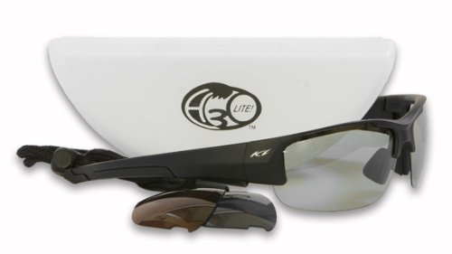 H3o Ice Lite Fishing Sunglasses with 3 Replaceable Polarized Lenses