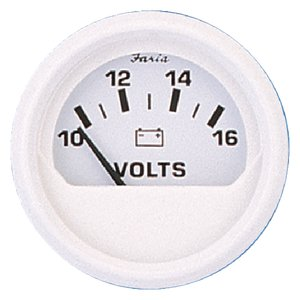 Faria Instruments 13120 DRESS WHITE VOLTMETER 10-16V DRESS WHITE SERIES