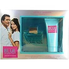 Blue Seduction By Antonio Banderas For Women Edt Spray 3.4 Oz & Body Lotion 3.4 Oz