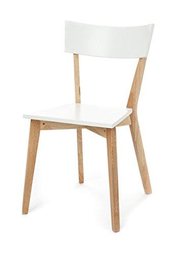 Tomasucci 1610 Kyra Wood Set 2 Sedie, Legno, Bianco