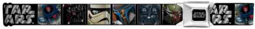 Star Wars Seatbelt Belt - Darth Vader, Boba Fett, Jango Fett, Storm Trooper, R2D2