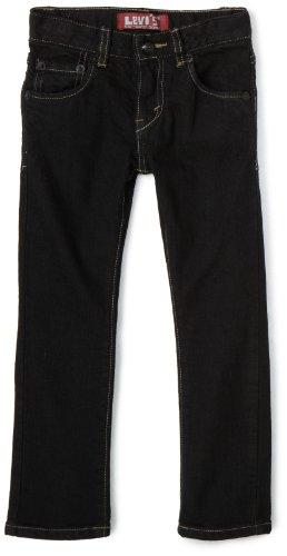Levi's Little Boys' 510 Skinny Jean, BLACK STRETCH, 4