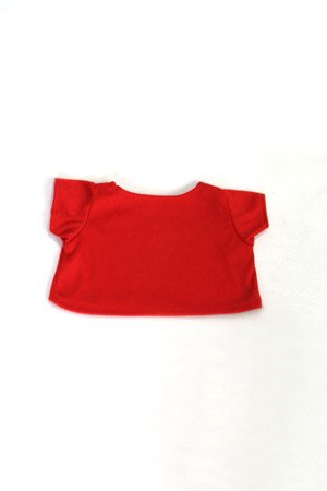 Red Basic Tee Shirt Teddy Bear Clothes Fit 14