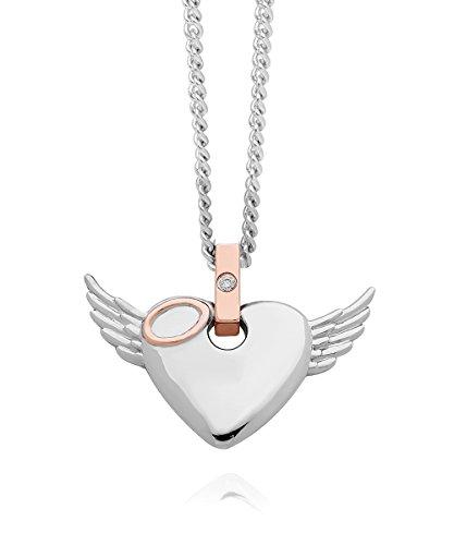 Clogau Gold Damen-Kette Silber Diamant 0.01 ct Weiß Rundschliff 46 cm - 3SCAWP