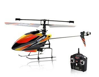 WL TOYS V911 2.4G 4-Channel Alloy RC Helicopter with Single Propeller Double Motors (Black) + Worldwide free shiping