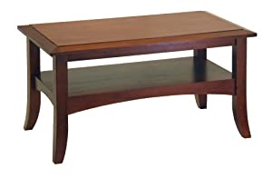 Winsome Wood Craftsman Coffee Table, Antique Walnut by Winsome Wood
