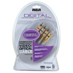 RCA DT6CHP Digital Combination Component Video &  Optical Cable (6 FT)